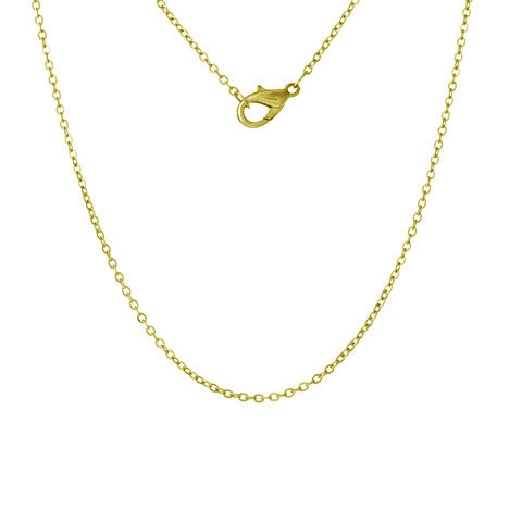 "STAINLESS STEEL 18"" GOLD FINE CHAIN - Statelight"