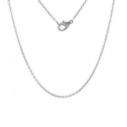 "STAINLESS STEEL 18"" SILVER FINE CHAIN - Statelight"