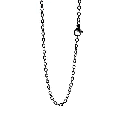 "STAINLESS STEEL 20"" BLACK CHAIN - Statelight"