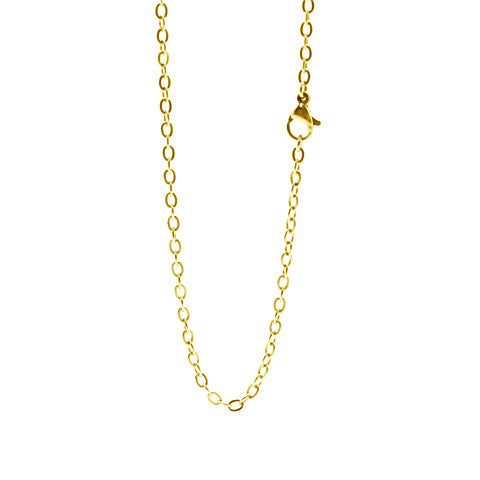"STAINLESS STEEL 20"" GOLD CHAIN - Statelight"