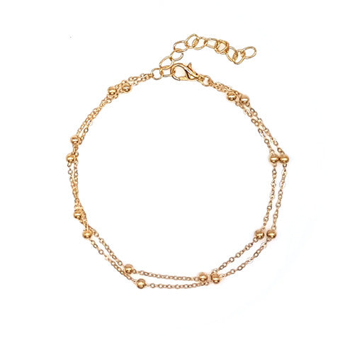 MISHA DOUBLE CHAIN GOLD ANKLET - Statelight