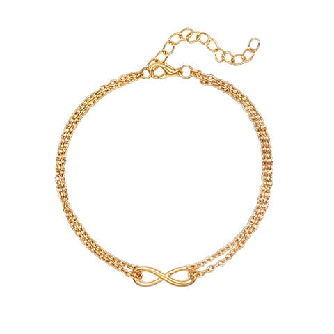 NAILA INFINITY GOLD ANKLET - Statelight