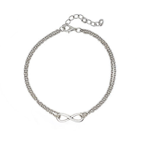 NAILA INFINITY SILVER ANKLET - Statelight