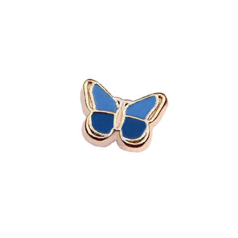 GOLD-TONED BUTTERFLY IN BLUE CHARM - Statelight
