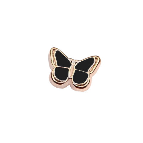GOLD-TONED BUTTERFLY IN BLACK CHARM - Statelight