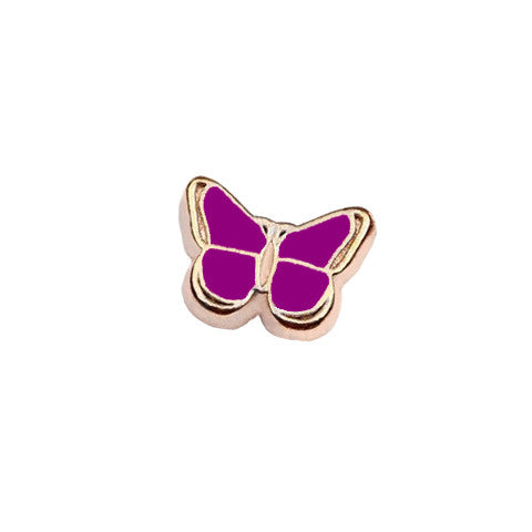 GOLD-TONED BUTTERFLY IN PURPLE CHARM - Statelight