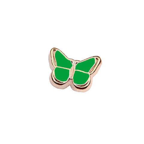 GOLD-TONED BUTTERFLY IN GREEN CHARM - Statelight