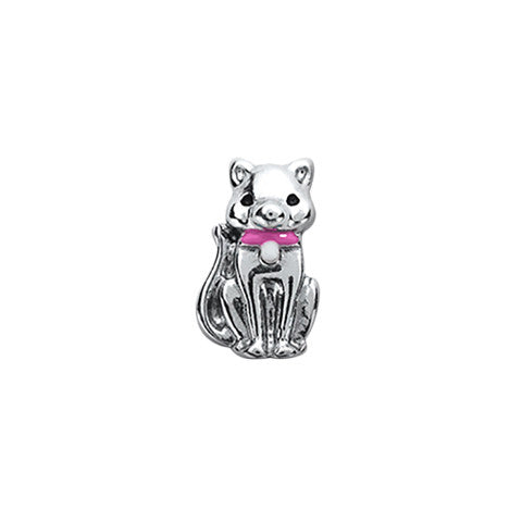 PINK RIBBON CAT CHARM - Statelight