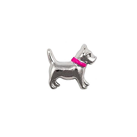 PINK COLLARED DOG CHARM - Statelight