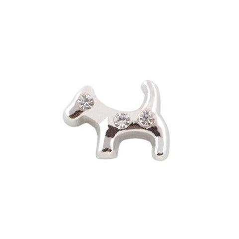 SILVER CRYSTAL DOG CHARM - Statelight