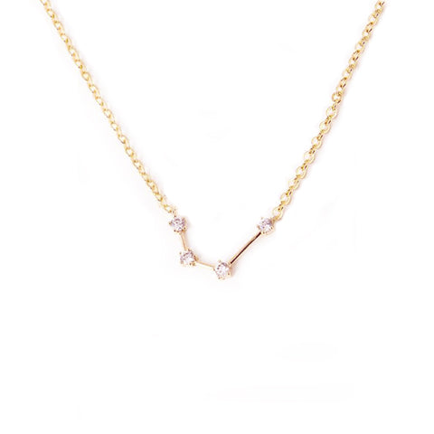 AQUARIUS CELESTIAL ROSE GOLD NECKLACE - Statelight