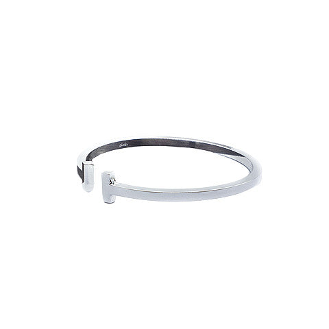 LEONA T-BAR SILVER CUFF in Stainless Steel - Statelight