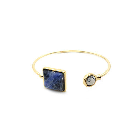 CYRA PAVE MARBLE AND INDIGO CUFF - Statelight