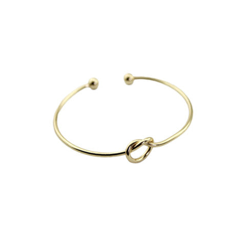 DANI CLASSIC KNOT GOLD BANGLE - Statelight