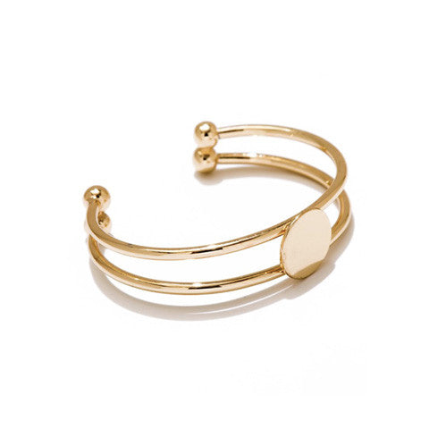 ODETTE LAYERED GOLD CUFF - Statelight