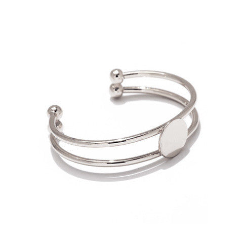 ODETTE LAYERED SILVER CUFF - Statelight