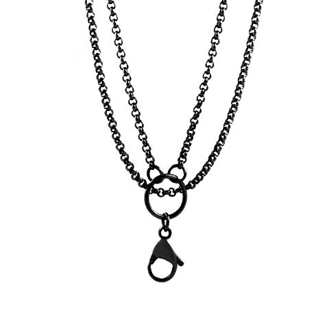 "STAINLESS STEEL 32"" BLACK CHAIN - Statelight"
