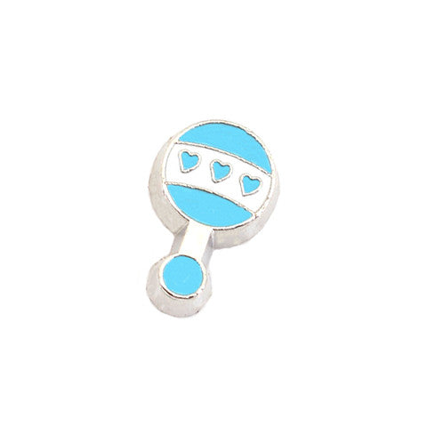 BLUE BABY RATTLE CHARM - Statelight