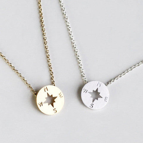 THE EXPLORER COMPASS GOLD NECKLACE - Statelight