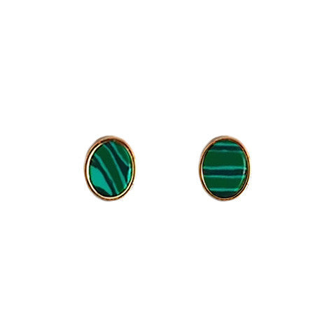 GALE FOREST GREEN OVAL EARRINGS - Statelight