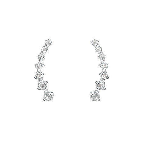 (Restocked) HARLOW RHINESTONE EAR CUFFS in 925 Silver - Statelight