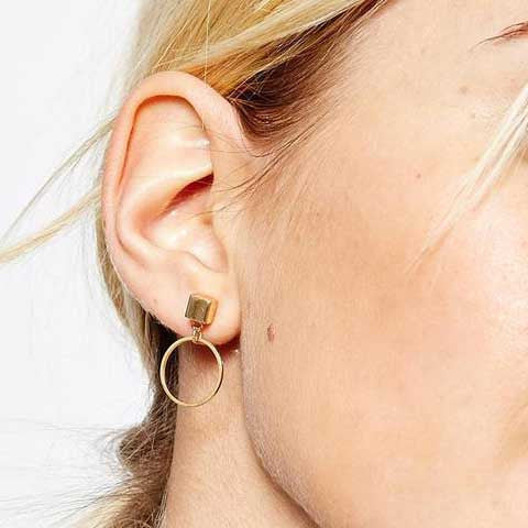 SOPHIE PETITE SILVER HOOP EARRINGS - Statelight