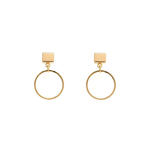 SOPHIE PETITE GOLD HOOP EARRINGS - Statelight