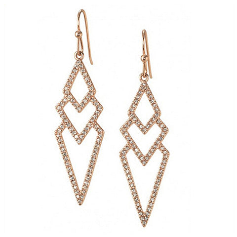 KYLIE PAVÉ SPEAR EARRINGS - Statelight