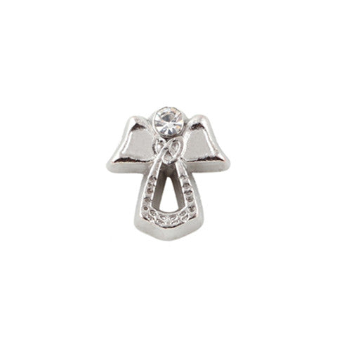 SILVER ANGEL CRYSTAL CHARM - Statelight