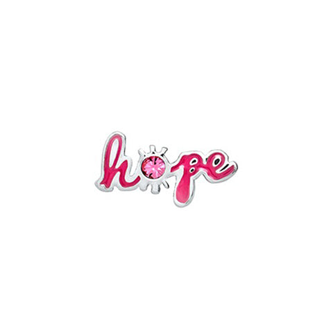 PINK SCRIPTED HOPE CRYSTAL CHARM - Statelight