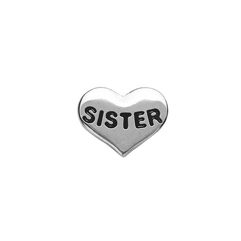 SILVER SISTER HEART CHARM - Statelight