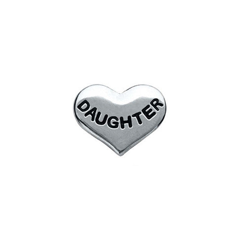 SILVER DAUGHTER HEART CHARM - Statelight