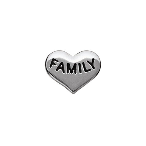 SILVER FAMILY HEART CHARM - Statelight