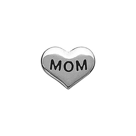 SILVER MOM HEART CHARM - Statelight