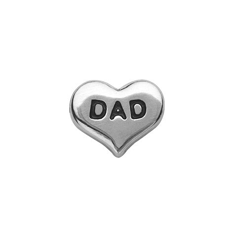 SILVER DAD HEART CHARM - Statelight