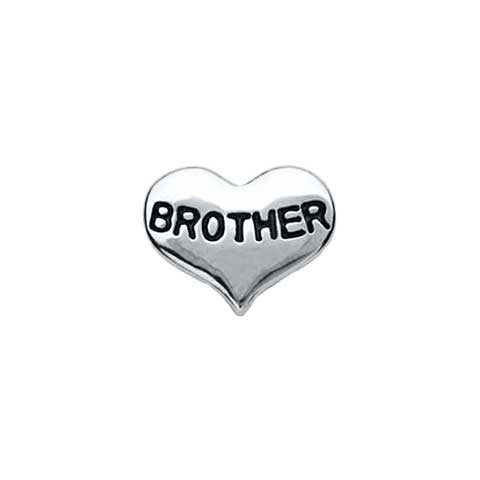 SILVER BROTHER HEART CHARM - Statelight