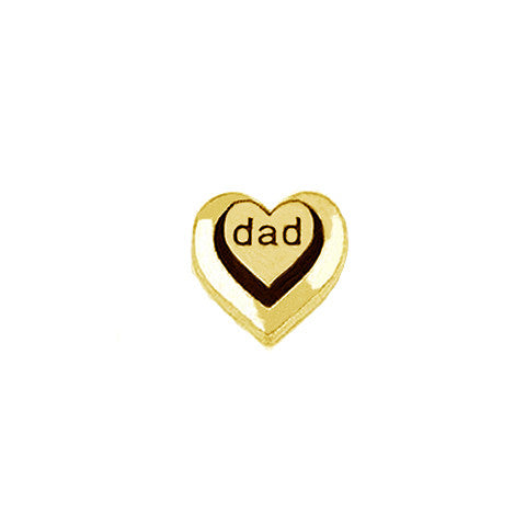 GOLD DAD HEART CHARM - Statelight