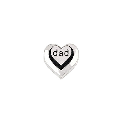 SILVER DAD DOUBLE HEART CHARM - Statelight