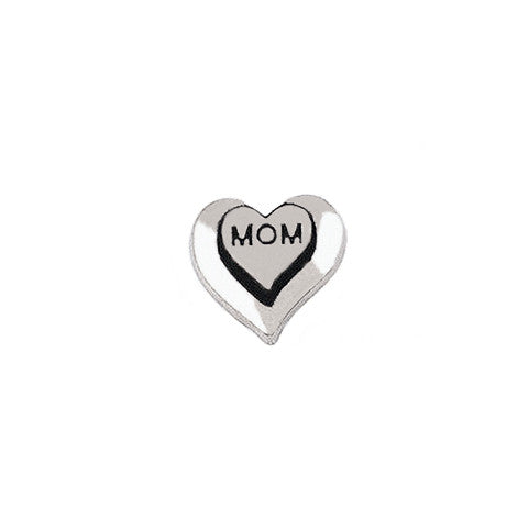 SILVER MOM DOUBLE HEART CHARM - Statelight