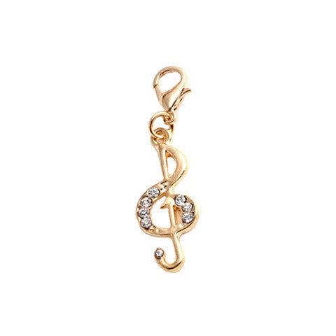 CRYSTAL MUSIC NOTE GOLD DANGLE - Statelight