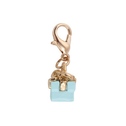 BLUE GIFT BOX DANGLE - Statelight