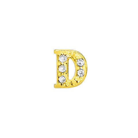 GOLD CRYSTAL LETTER D CHARM - Statelight