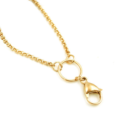 "STAINLESS STEEL 32"" GOLD CHAIN - Statelight"