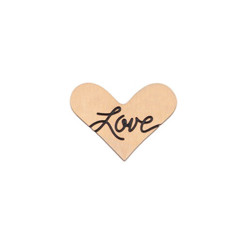 """LOVE"" INSCRIPTION ROSE GOLD STAINLESS STEEL HEART LOCKET PLATE - Statelight"