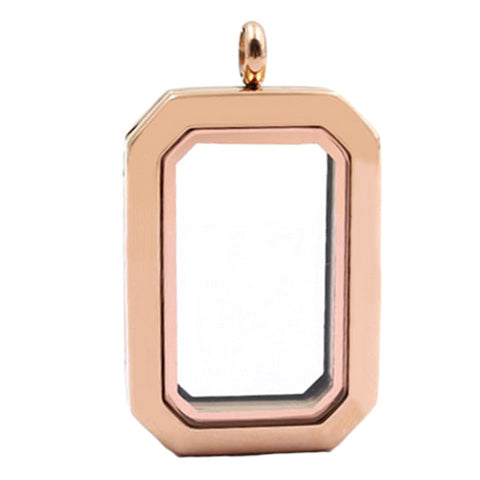 ROSE GOLD STAINLESS STEEL POLARITY HERITAGE LOCKET - Statelight