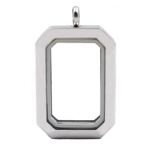 SILVER STAINLESS STEEL POLARITY HERITAGE LOCKET - Statelight