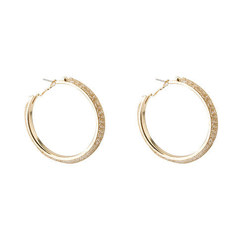 ELLIE GOLD MESH HOOPS - Statelight