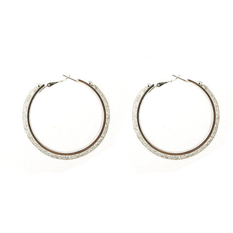 ELLIE SILVER MESH HOOPS - Statelight