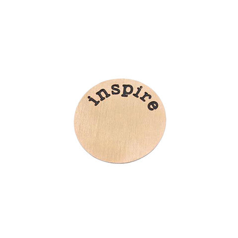 """INSPIRE"" INSCRIPTION LARGE ROSE GOLD STAINLESS STEEL LOCKET PLATE - Statelight"