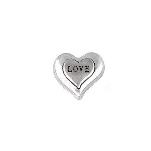 SILVER LOVE DOUBLE HEART CHARM - Statelight